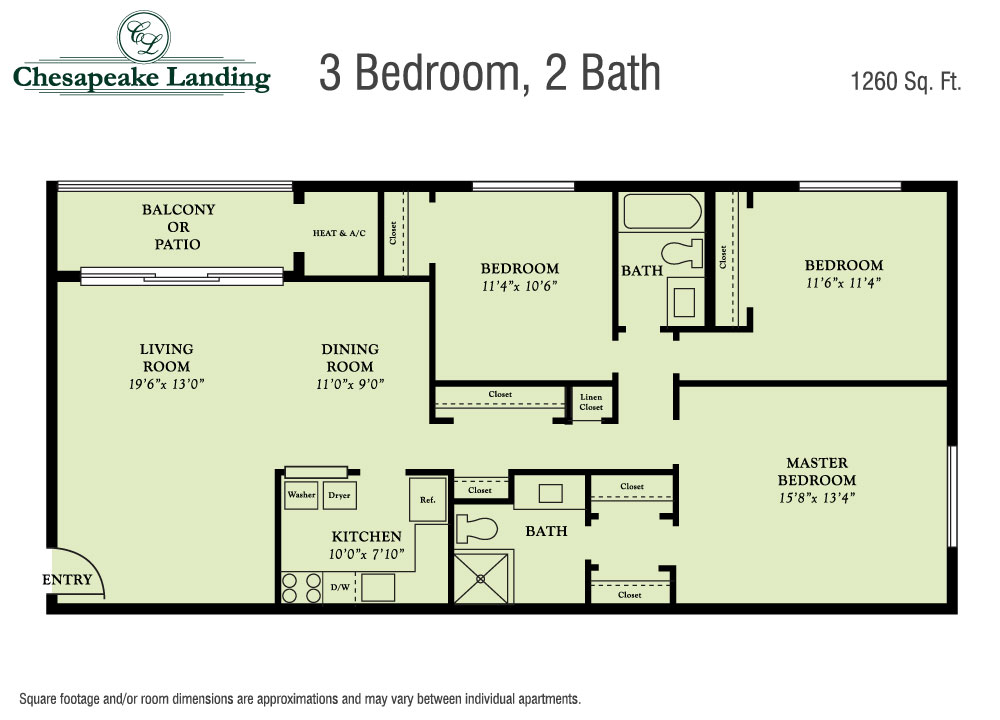 Floor Plans Chesapeake Apartments